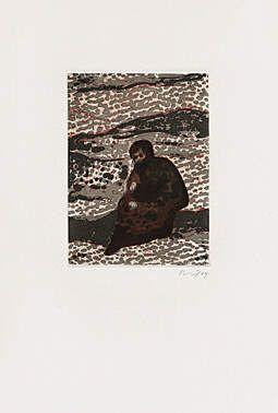 Acquatinta Doig - Figure by a River