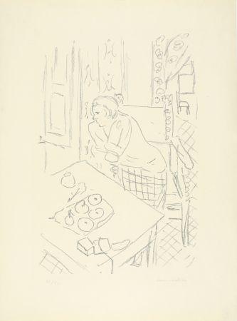 Litografia Matisse - Figure dans un intérieur