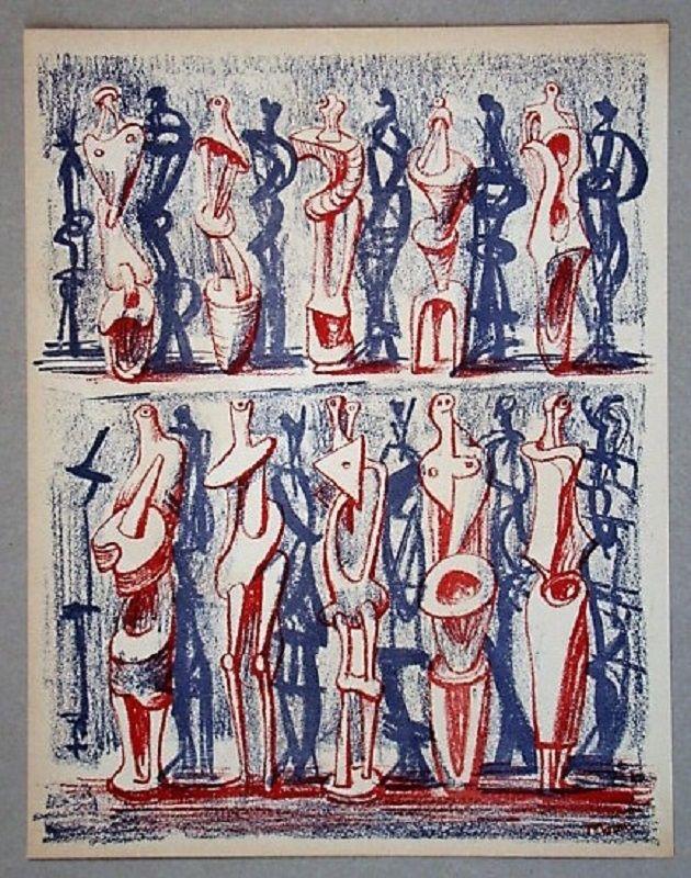Litografia Moore - Figures and shadows