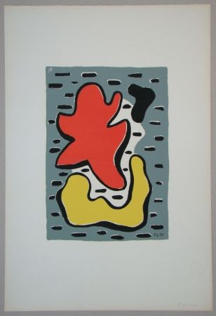 Serigrafia Leger - Figures rouge et jaune, 1950