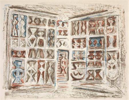Litografia Campigli - Finestre