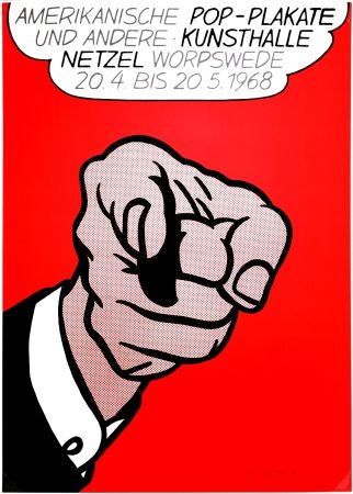 Serigrafia Lichtenstein - Finger Pointing (Hey You!)