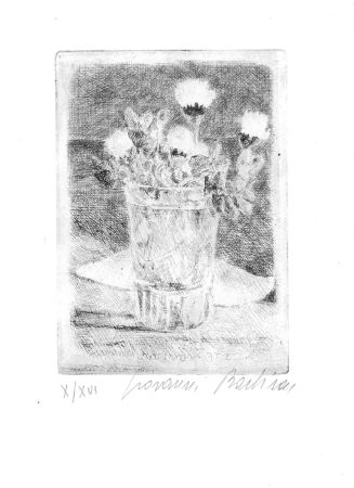 Acquaforte Barbisan - Fiori nel bicchiere