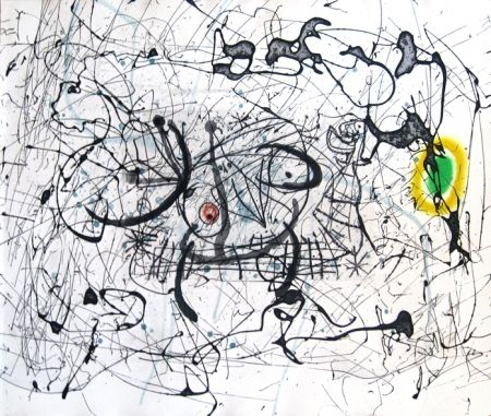 Incisione Miró - Fissures