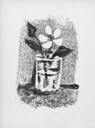 Litografia Picasso - Fleurs Dans Un Verre #6