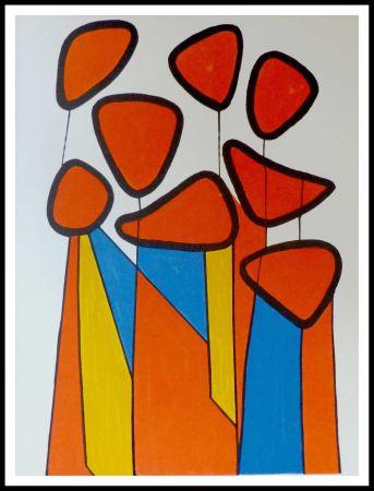 Litografia Calder - Fleurs de courge