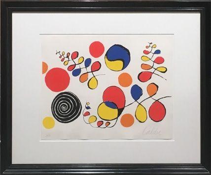 Litografia Calder - Floating Helix