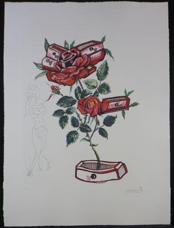 Incisione Dali - Florals Rose