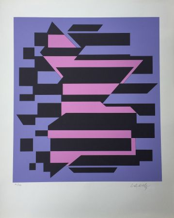 Serigrafia Vasarely - Flores