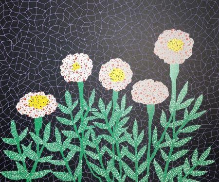 Litografia Kusama - Flower