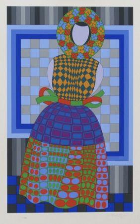 Multiplo Vasarely - Flower Girl