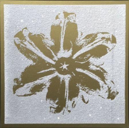Serigrafia Robierb - Flower Power (Gold on White)