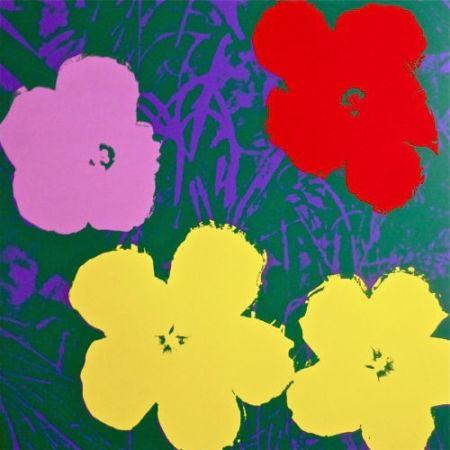 Serigrafia Warhol (After) - Flowers IV