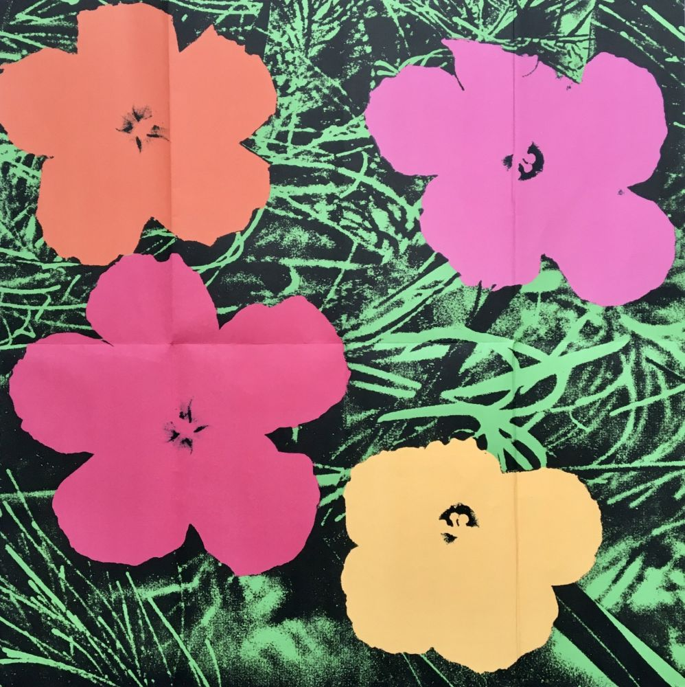 Non Tecnico Warhol - 'Flowers (Leo Castelli Mailer)' 1964 Original Pop Art Poster