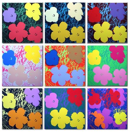 Serigrafia Warhol (After) - Flowers Set of 10 (by Sunday B. Morning)