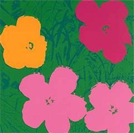 Serigrafia Warhol (After) - Flowers V