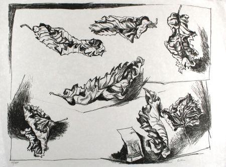 Litografia Guttuso - Foglie