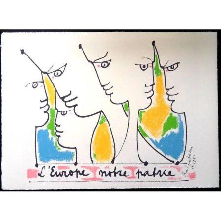 Litografia Cocteau - Fondateurs de l'europe