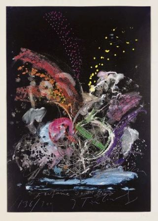 Serigrafia Tinguely - Fontaine Joe Syffert