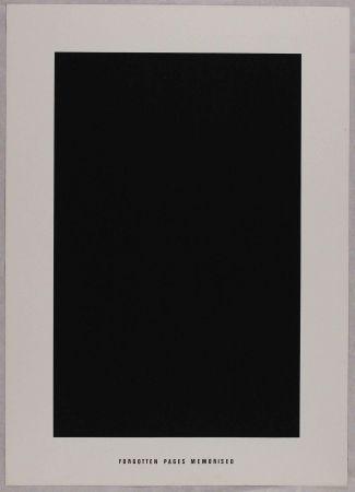 Litografia Agnetti - Forgotten pages memorised from 'Spazio perduto e spazio costruito' portfolio, Plate G