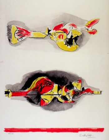 Litografia Sutherland - Formes volantes et flottantes