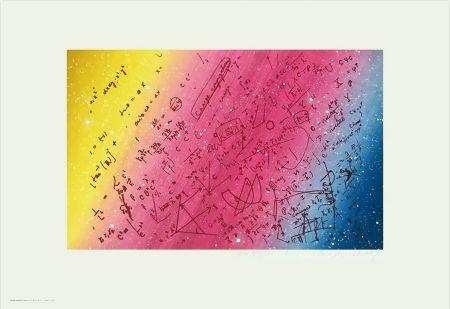Serigrafia Monory - FOUILLIS MATHÉMATIQUE. Sérigraphie de 1975 signée au crayon.