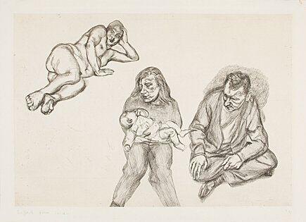 Incisione Freud - Four Figures (Vier Figuren)