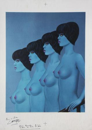 Litografia Labisse - Four Nudes Descending Stairs (BAT)