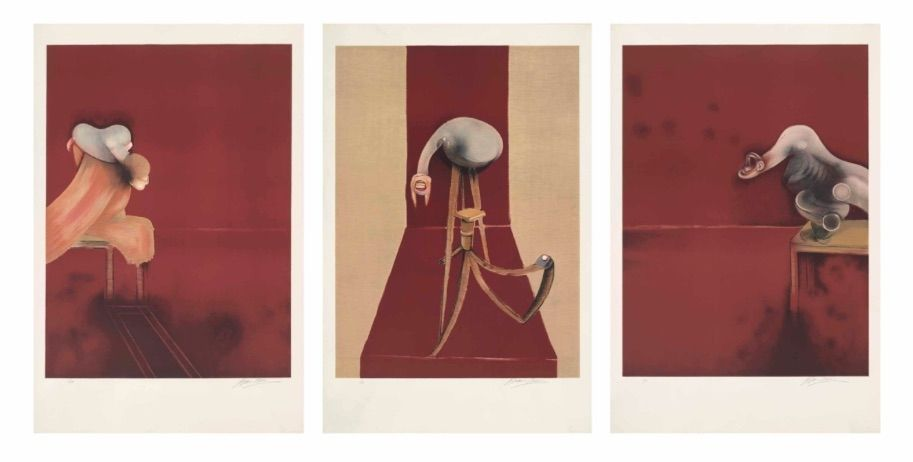 Litografia Bacon - FRANCIS BACON, SECOND VERSION OF TRIPTYCH