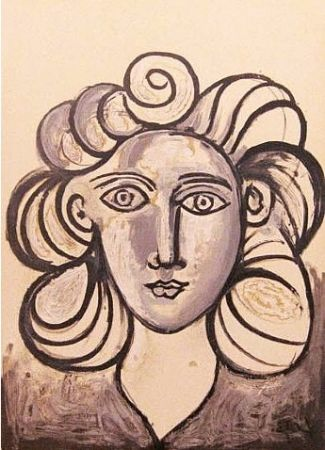Litografia Picasso - Francoise Gilot 2