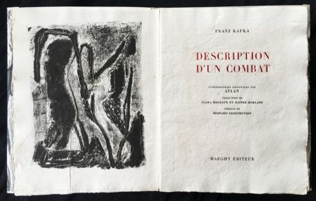 Libro Illustrato Atlan - , Franz Kafka. DESCRIPTION D'UN COMBAT. Lithographies originales d'Atlan.