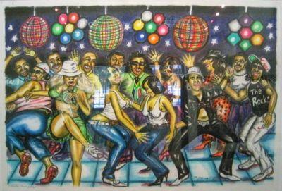 Litografia Motswai - Freedom dance party