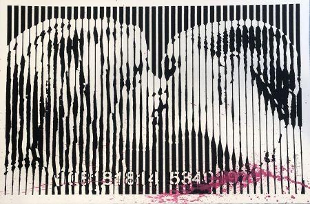 Serigrafia Mr. Brainwash - Freedom Kiss (Pink Splash)