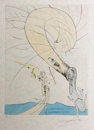 Incisione Dali - Freud with Snail Head