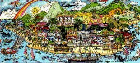 Serigrafia Fazzino - From Maui With Love