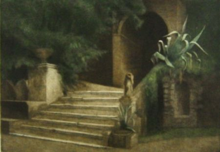 Maniera Nera Ilsted - From the Garden of Villa d'Este