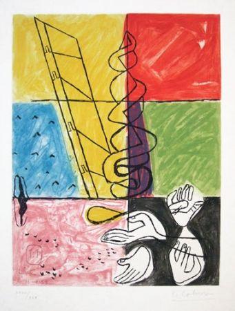 Acquaforte E Acquatinta Le Corbusier - From Unite Suite #11b