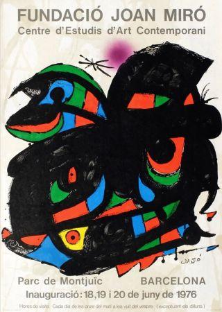 Manifesti Miró - FUNDACIO JOAN MIRO - INAUGURACIO. BARCELONA. Affiche originale de 1976.