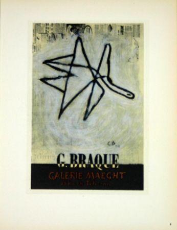 Litografia Braque - G Braque  Galerie Maeght  1956