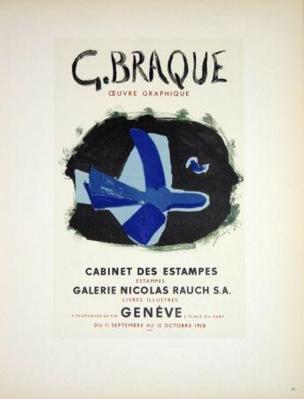 Litografia Braque - G. Braque  Oeuvres Graphiques Nicolas Rauch  Genéve  1958