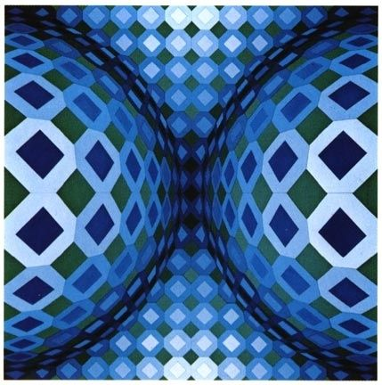 Serigrafia Vasarely - Gaia VY - 47 G, from Gaia series