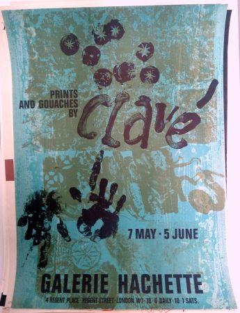 Manifesti Clavé - Galeria Hachette 7 May 5 Jun