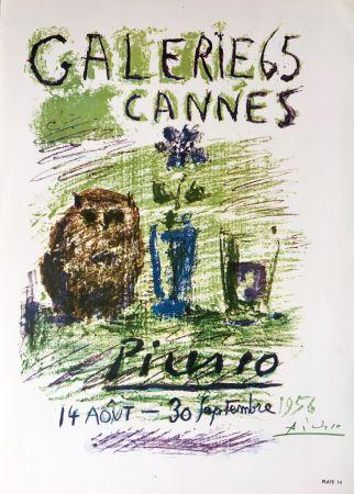 Litografia Picasso - Galerie 65 Book Plate (Hand Signed)
