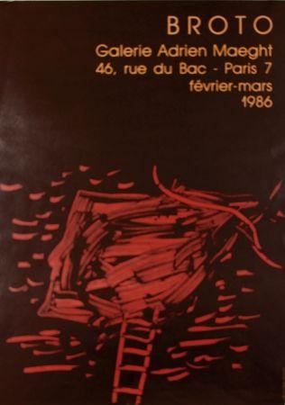 Litografia Broto - Galerie  Adrien Maeght