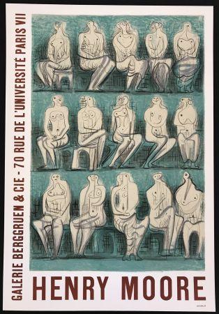 Manifesti Moore - Galerie Berggruen & Cie (Seated Figures)