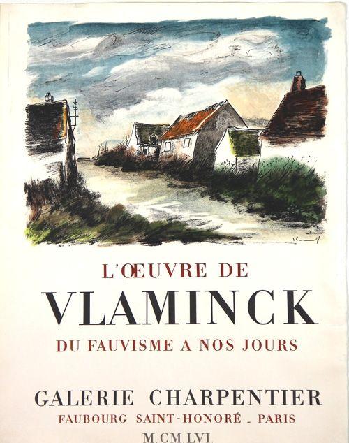 Litografia Vlaminck - Galerie Charpentier