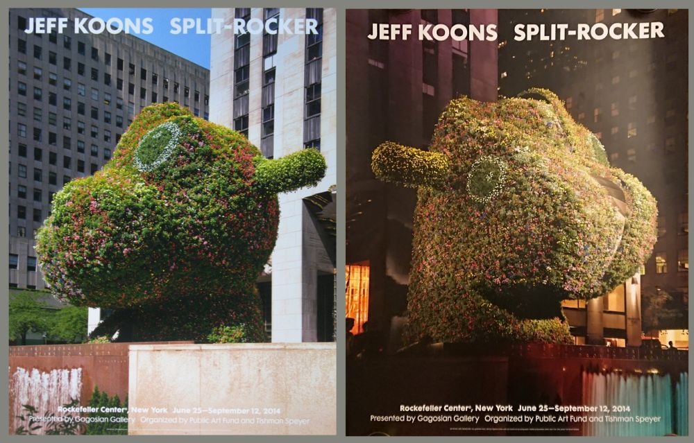 Manifesti Koons - '' Galerie Gagosian ''