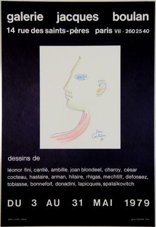 Litografia Cocteau - Galerie Jacques Boulan