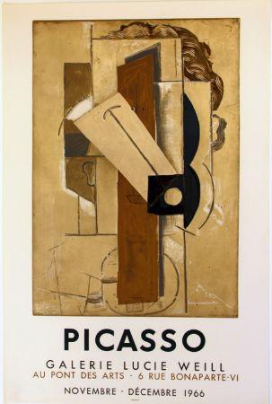 Litografia Picasso - Galerie Lucie  Weill