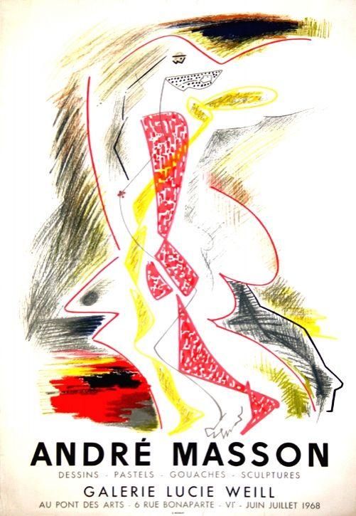 Litografia Masson - Galerie Lucie Weill 1968